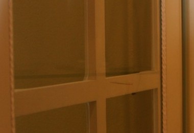 postarzana stylizowana witryna szklana