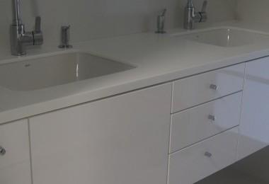 szafka pod umywalkę biały połysk
