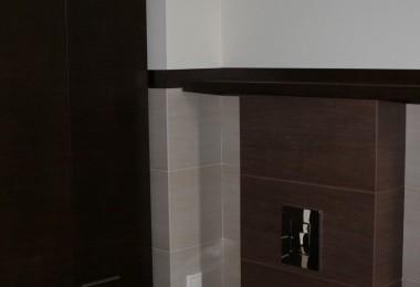 drewniana zabudowa łazienki na wymiar